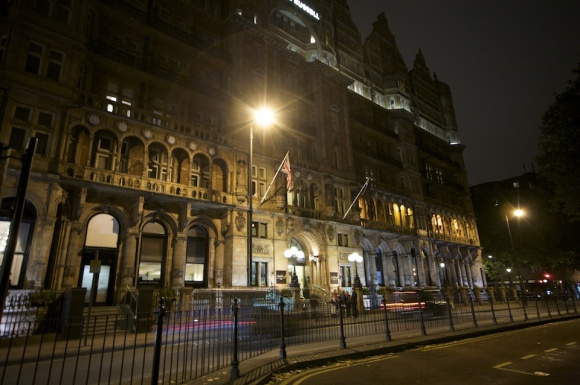 Hotel Russell London at night