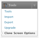 fv clone screen options usage 1