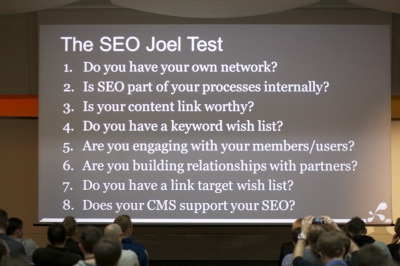 Tom Critchlow SEO Joel Test