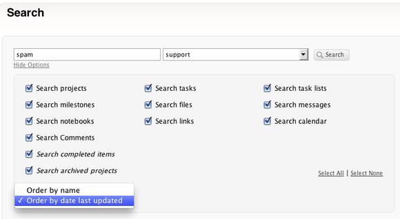 TeamworkPM search granular preferences