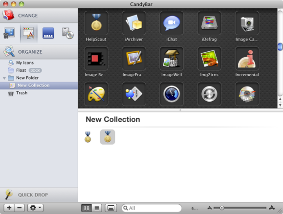 Panic Software CandyBar screenshot