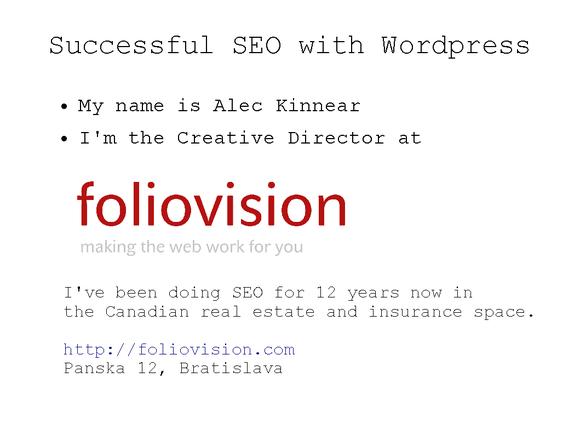 SEO and WordPress 01