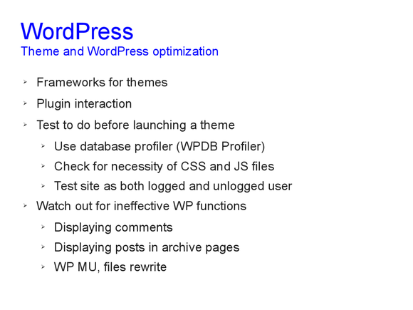 Speed optimization of WordPress 15