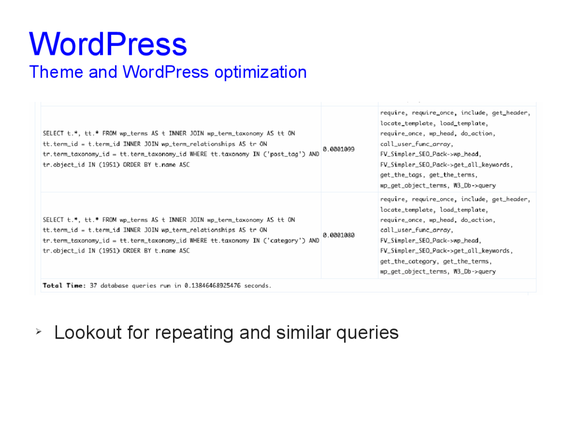 Speed optimization of WordPress 16