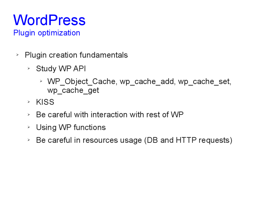 Speed optimization of WordPress