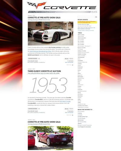 Corvette Blog New Design