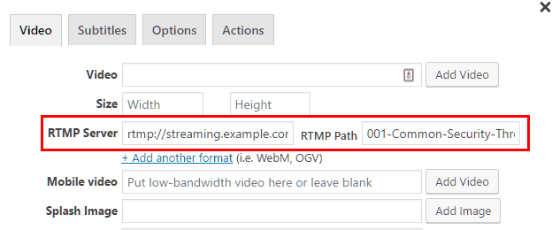 video flash rtmp