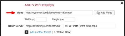 fv flowplater rtmp filled in mp4