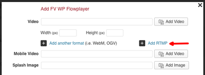 fv flowplayer add rtmp