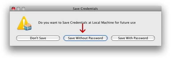 Bucket Explorer save credentials