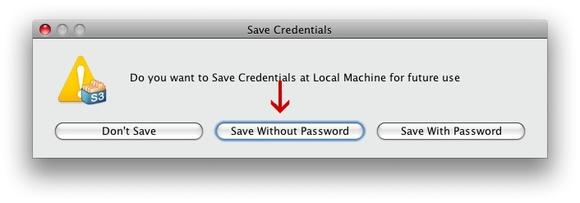 Bucket Explorer save credentials