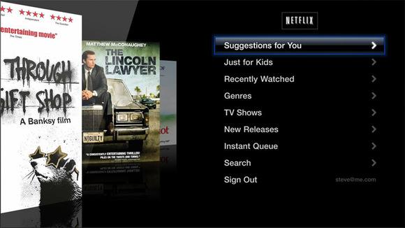 Netflix on Apple TV 3 ATV3