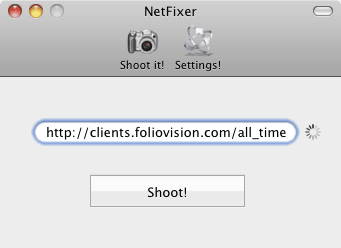 Netfixer simple interface