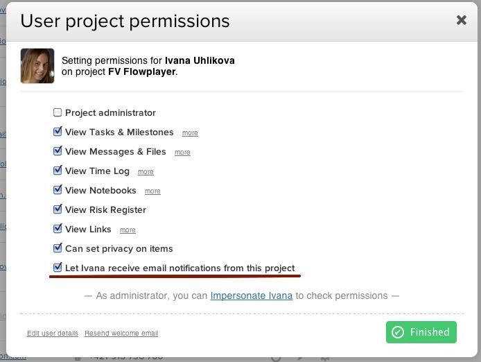 teamworkpm project permissions normal user