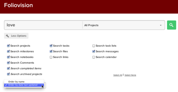 TPM search options by date