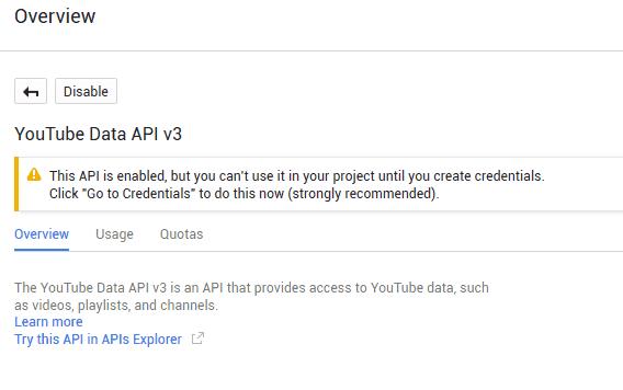 youtube-data-api3