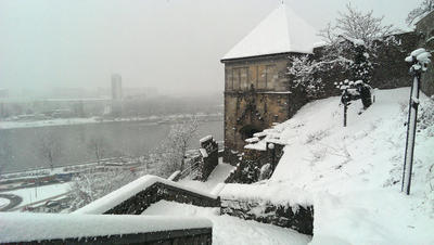 Bratislava Castle in Winter: HTC One Photos