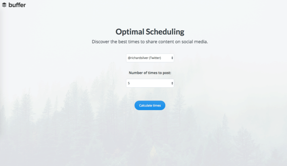 Buffer Optimal Scheduling Tool Settings
