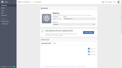 Facebook get api key