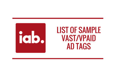 List of Sample VAST/VPAID Ad Tags