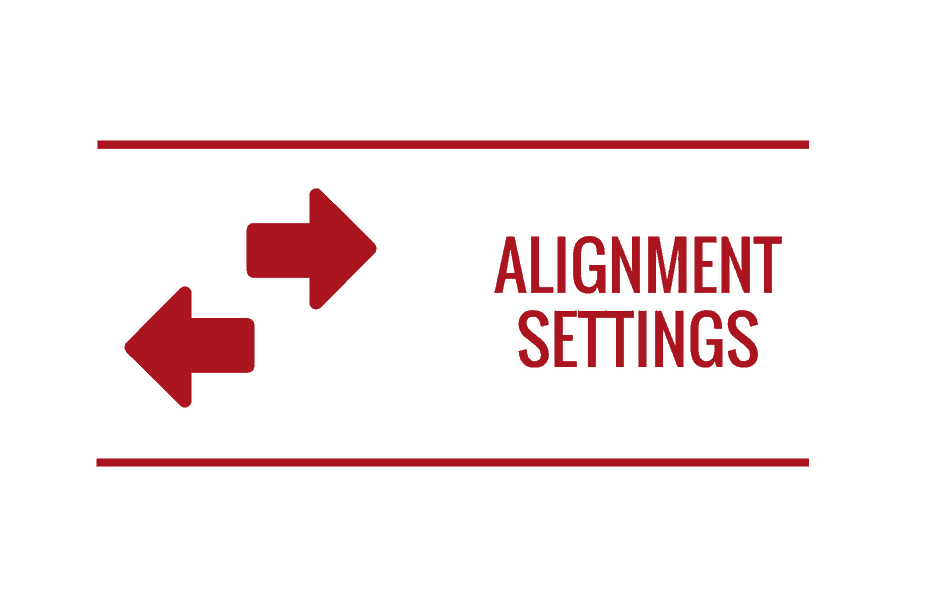 alignment-settings