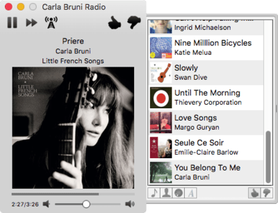 The best Pandora client for OS X: Hermes