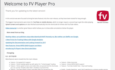 FV Player Pro's Update: All Beta Features Now Available for Everyone