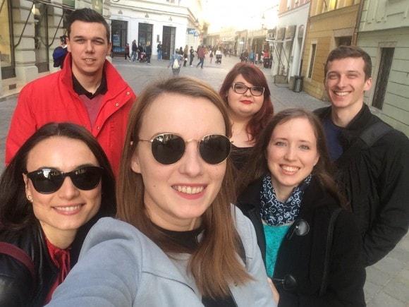 Riso, Anka, Sany, Katka, Naty & Mario on the way to Lumiere