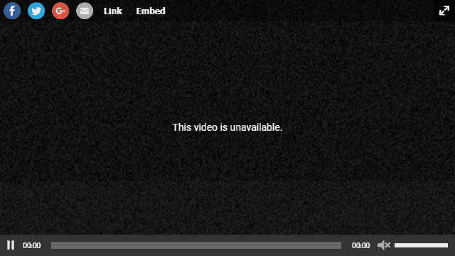 YouTube video unavailable - a dreaded sight