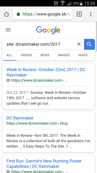 A page in AMP in Google search