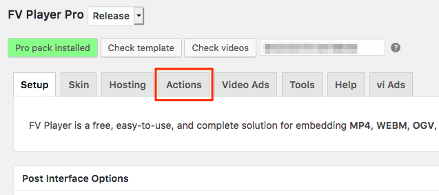 How to find the Actions tab.