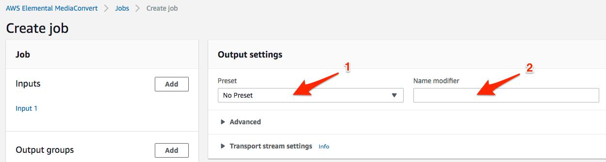 Entering Preset and Name Modifier.