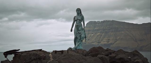 A statue at Faroe Islands