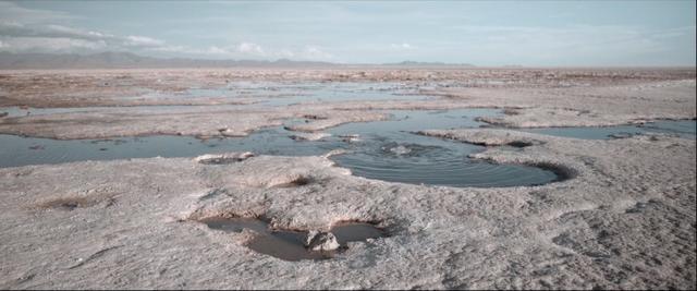Landscape at Uyuni Salt Flats in Bolivia