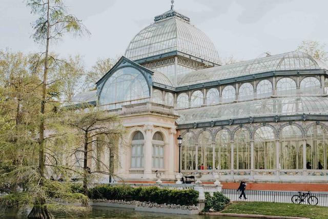 Palacio de Cristal in Retiro Park in Madrid