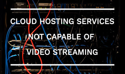Cloud Hosting Providers where videos cannot be stored for playback on your website: OneDrive, ADrive, Dropbox