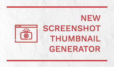 New built-in video screenshot thumbnail generator