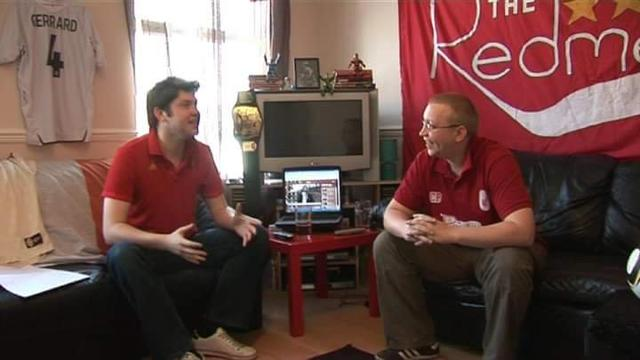 Paul Maych and Chris Pajak in one of their first Redmen TV show