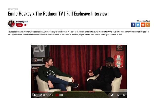 The Redmen TV's Full Exclusive Interview video episode preview