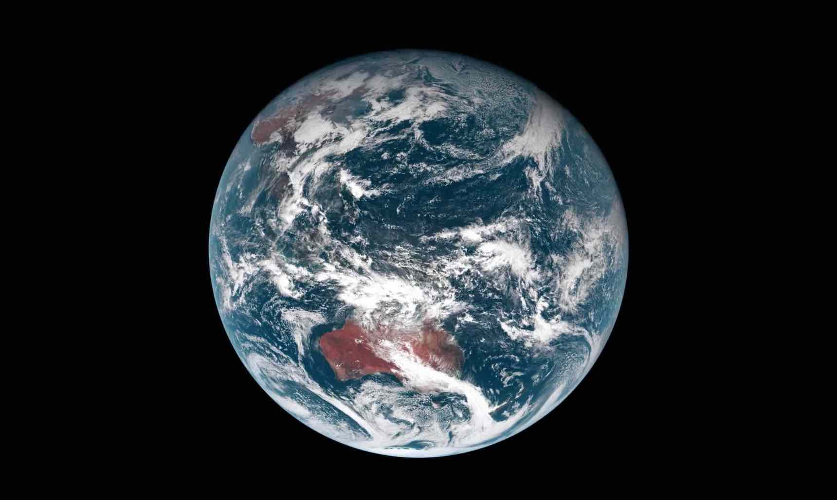 Planet Earth vies form the satellite