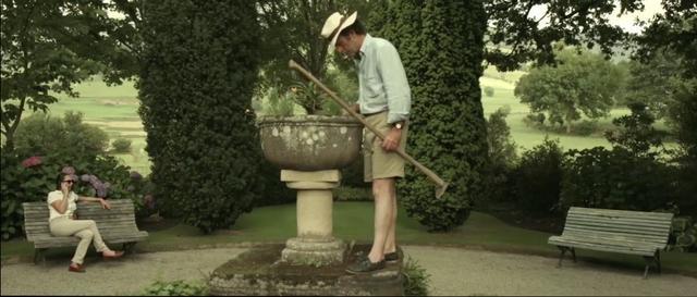 Luis González-Camino taking care of his garden