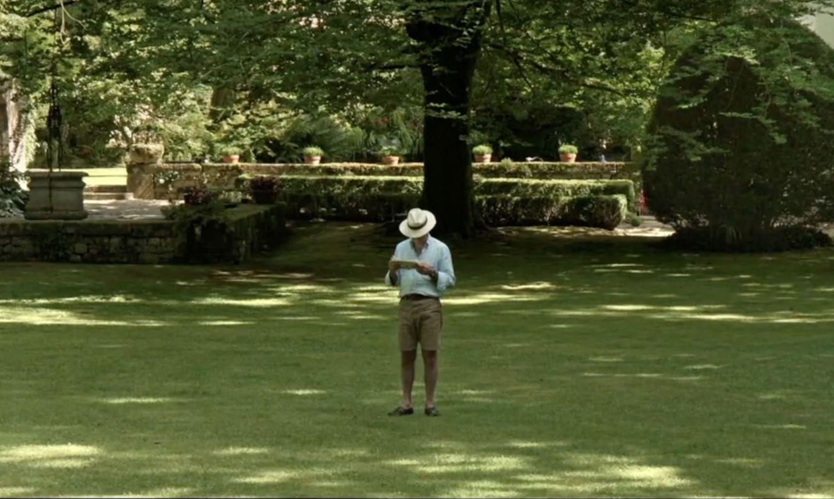 Luis Gonzalez Camino in Cotubín garden