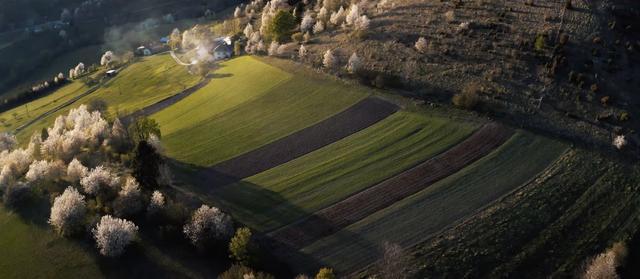 Hriňovské lazy land aerial
