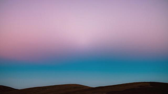 Pink and blue sky above Atacama desert