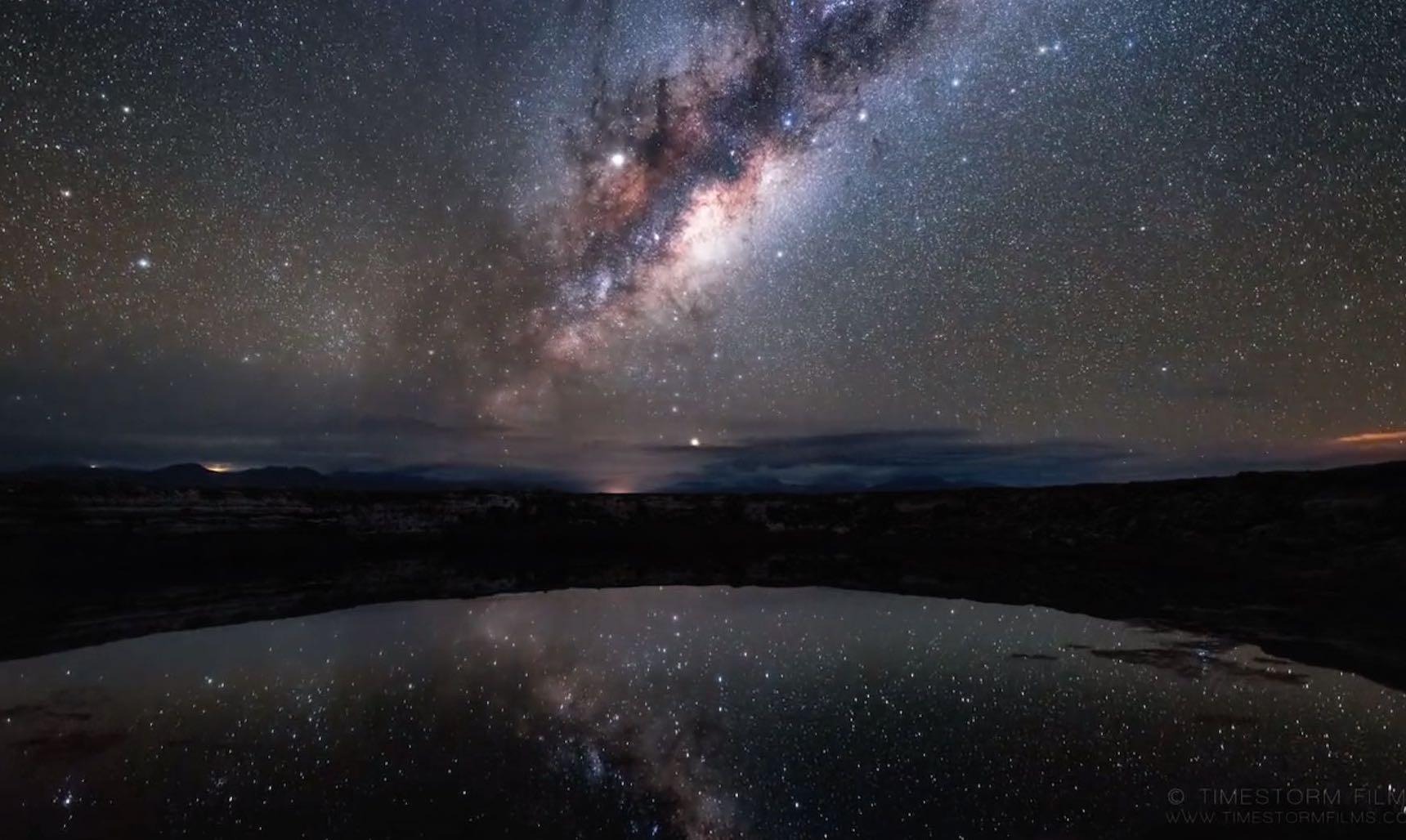 Starry sky above the Atacama desert