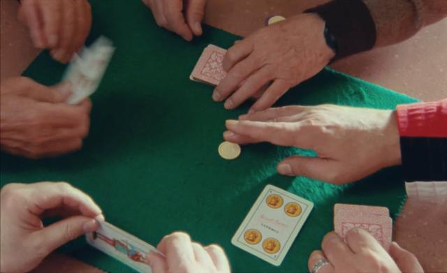 Detail of gambling on the table