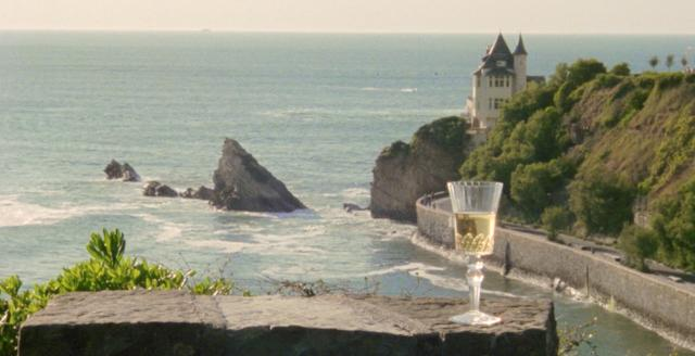 The view on coast in Biarritz, France