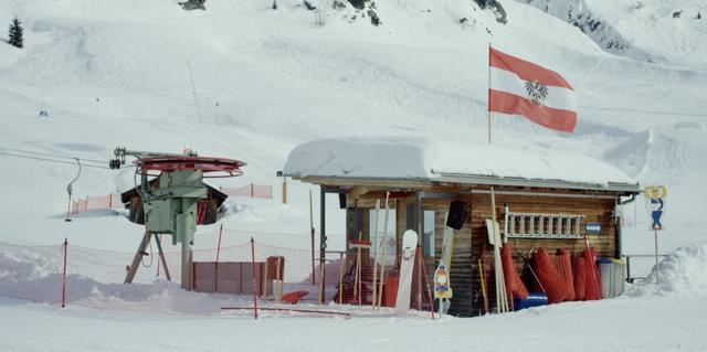 A ski-lift station at Ischgl, Austria