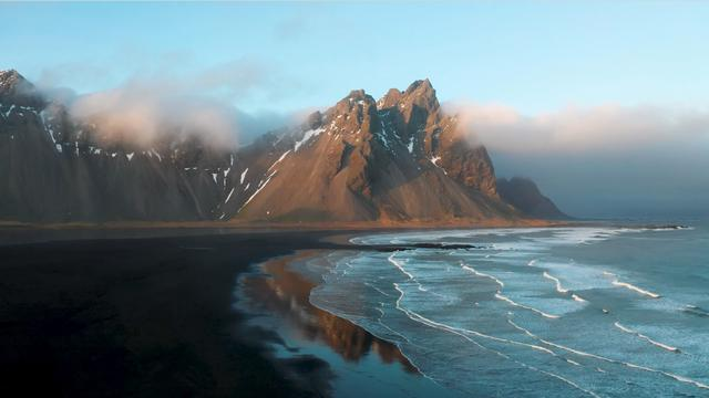The seashore of Iceland