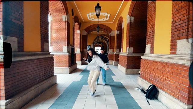 Dancers Lilla ''Lillapath'' and Adam Korsos in Budapest, Hungary